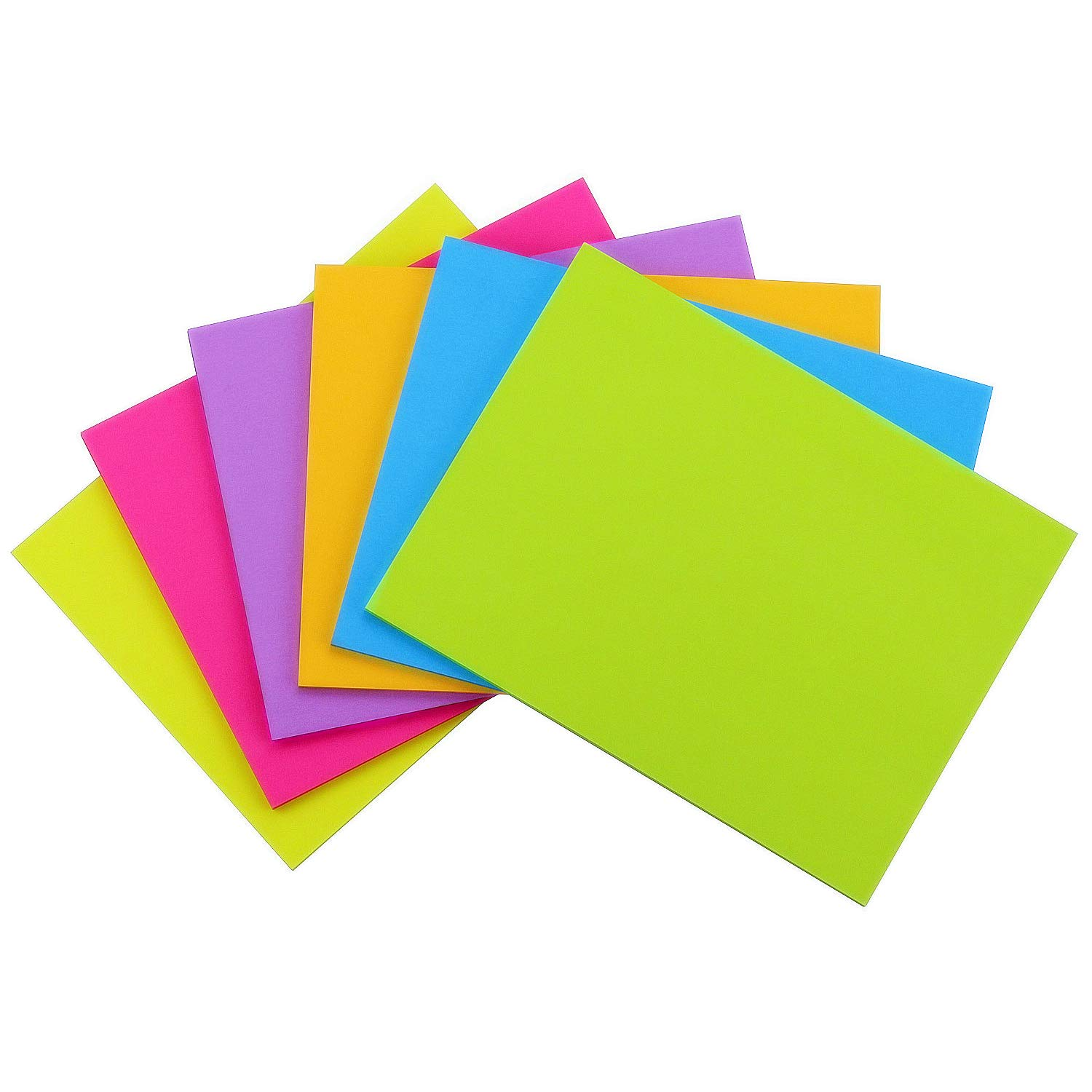 Early Buy Sticky Notes 6 Bright Color 12 Pads Self-Stick Notes 8 in x 6 in, 45 Sheets/Pad by Early Buy