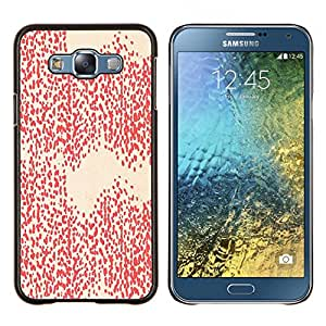 Caucho caso de Shell duro de la cubierta de accesorios de protección BY RAYDREAMMM - Samsung Galaxy E7 E700 - Modelo blanco del papel pintado del arte