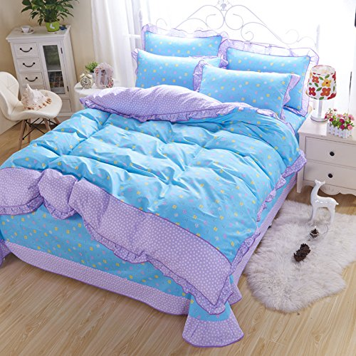 4PCS Butterfly Princess Bed Sets (Yellow) - 6