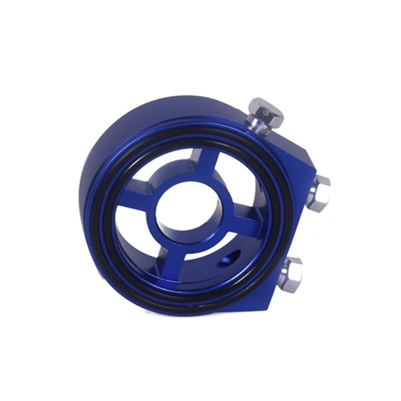 Oil Filter Universal Aluminum Sandwich Plate Adapter Pressure Temperature Sender-Blue