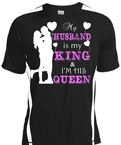 Amazoncom My Husband Is My King T Shirt Im His Queen T Shirt