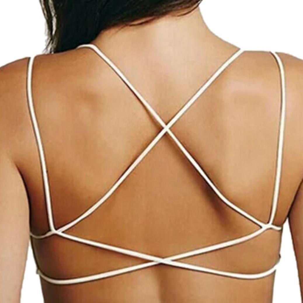Susenstone Women Crop Tops Strap Vest Cut Out Shirt Beach Tank (black) Susenstone_1336