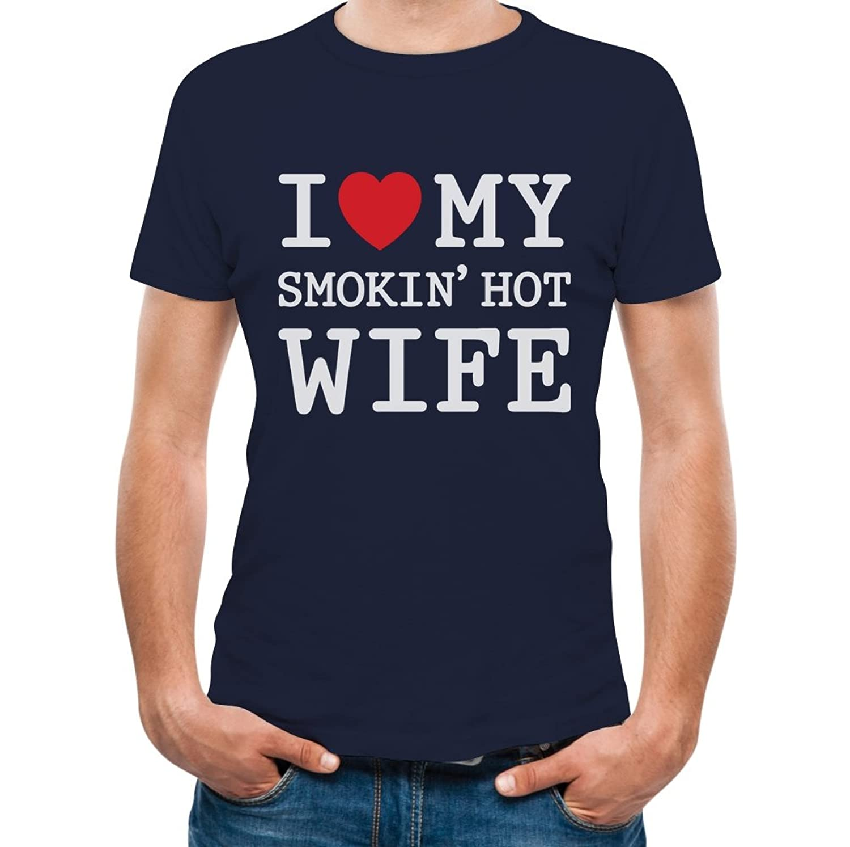 TeeStars - I Love My Smokin' Hot Wife - Valentine's Day Romantic Gift T-Shirt