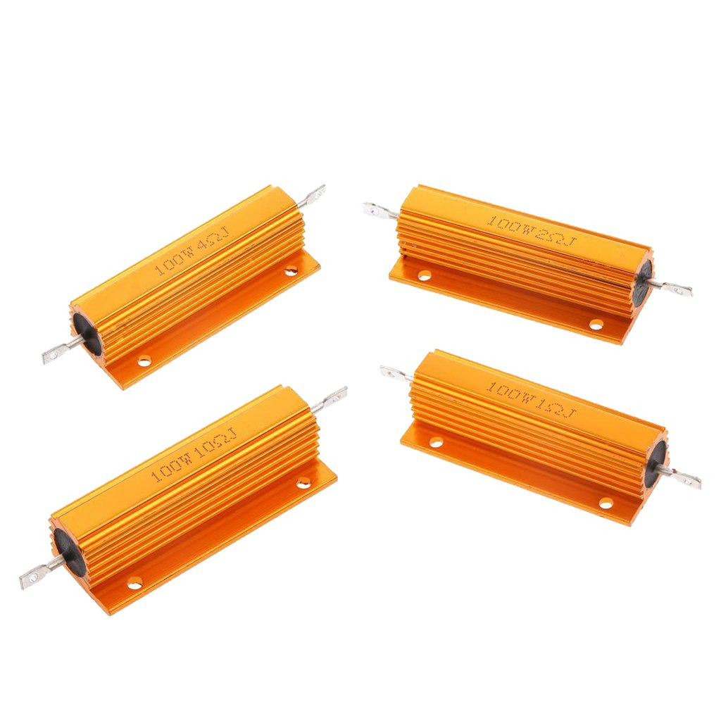 MagiDeal 100W 1R +2R +4R +10R Aluminum Gehä use Shell Fall Wirewound Resistor Widerstand
