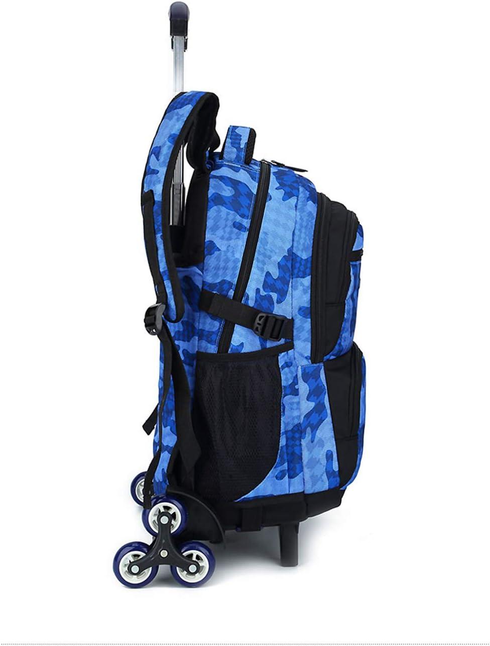 Belegao Ni/ños Ni/ñas College Primaria Ni/ños School Bag Gran Capacidad Equipaje Extra/íble Laptop Mochila Estudiante Escuela Viaje Compras Mochila con Ruedas 6 Trolley Bag