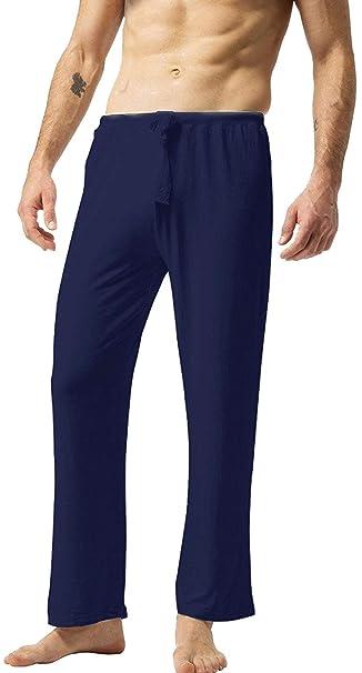 ZSHOW Pantalones Largos de Yoga para Hombres de Algodón