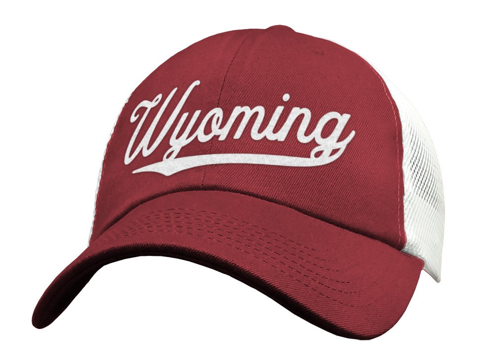 Snapback Mesh Low Profile Unstructured Sports WY USA State of Wyoming Trucker Hat Baseball Cap