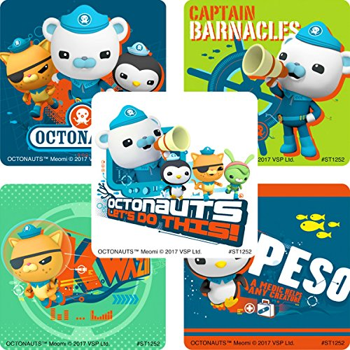 Price comparison product image Children's Party Favor Stickers - Large Stickers - Box of 100 (Octonauts Stickers)