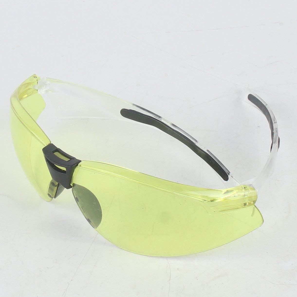 Lunettes de s/écurit/é PC Protection UV Lunettes de moto Poussi/ère Vent R/ésistant aux /éclaboussures R/ésistance aux chocs de haute r/ésistance pour la randonn/ée /à v/élo couleur: jaune