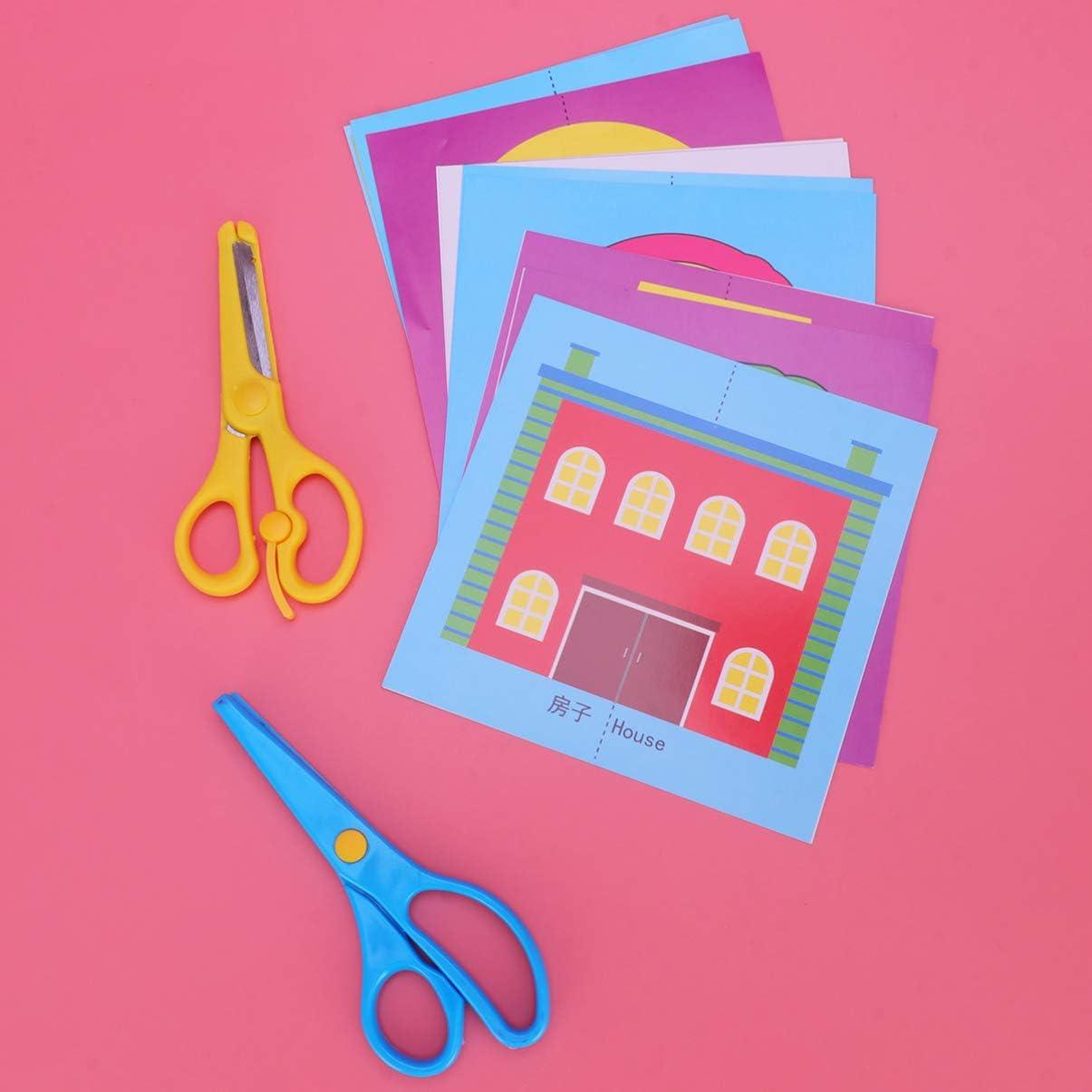NUOBESTY 120 Piezas de Papel de Origami Hojas de Origami Papel Plegable Colorido con Tijera para Ni/ños Suministros para Manualidades Diy