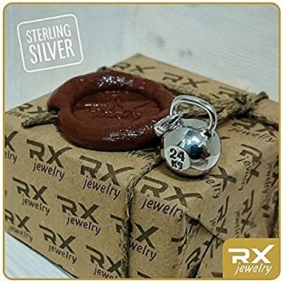 Sport gift Kettlebell necklace Workout accessory sterling silver Kettlebell sport necklace Sterling silver pendant CrossFit jewelry charm Fitness gift Bodybuilding necklace