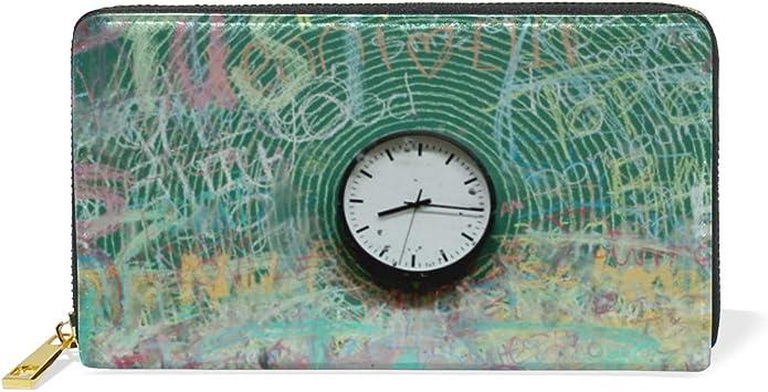 DEZIRO - Estuche para Tarjetas de crédito, diseño de Reloj de Pintura: Amazon.es: Equipaje