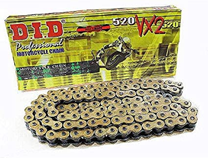 Did Kette 520 Vx2 118 Glieder X Ring Gold Offen Mit Clipschloss Auto