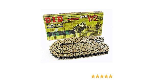 110/eslabones X de anillo DID Cadena 520/VX2 abierto con remachadora Candado