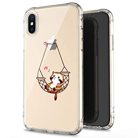 efe3273b4247 JAHOLAN iPhone X Case iPhone Xs Amusing Whimsical Design Clear Bumper TPU  Soft Case Rubber Silicone