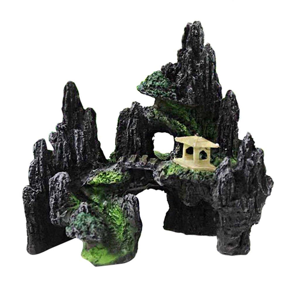 Symboat, roccia, decorazione per acquario in resina