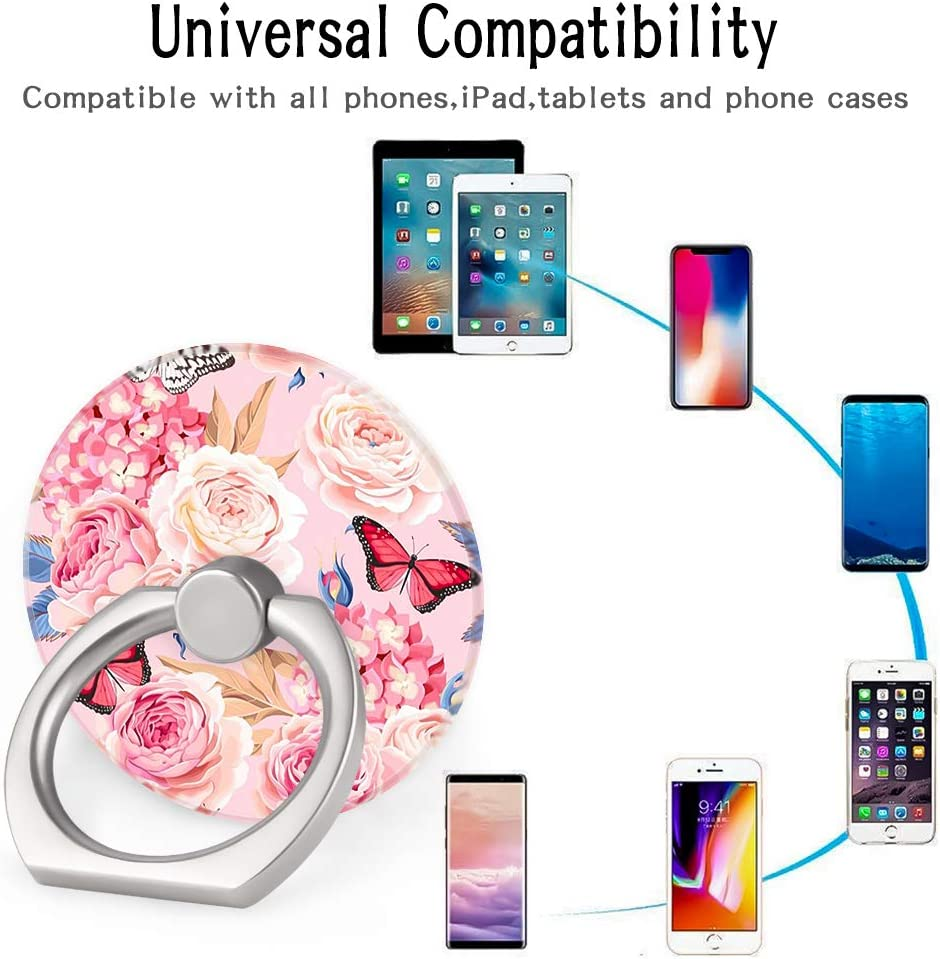 4-Pack Phone Ring Holder 360 Rotation Finger Stand Grip Kickstand for Smartphones and Tablets Pineapple