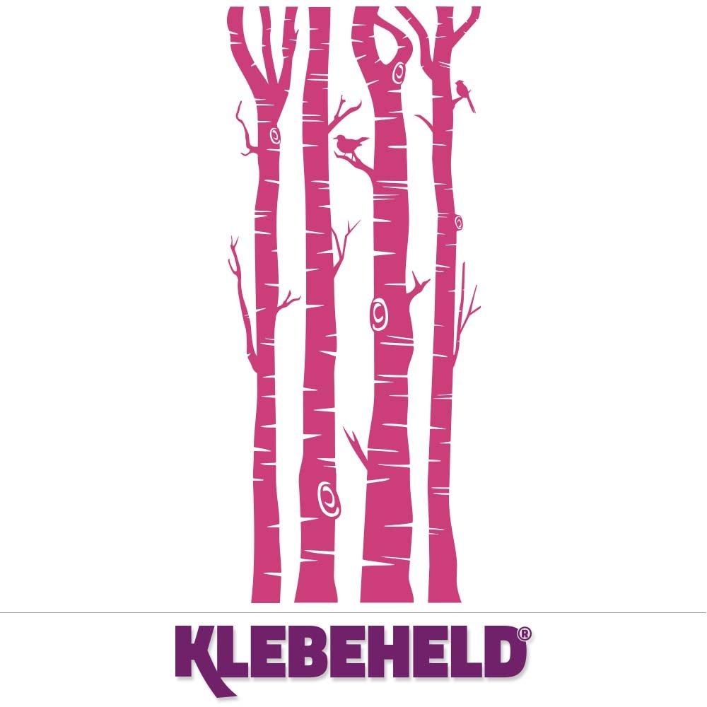KLEBEHELD® Wandtattoo Birkenstämme Birkenstämme Birkenstämme - Birken - Stämme - Birkenstamm Farbe weiss, Größe 200cm B072QTFP7P Wandtattoos & Wandbilder 03cda7