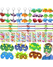 68 PCs Dinosaur Party Favors Girl Dinosaur Party Supplies Masks Keychains Bracelets Rings Stickers Toys Prizes Gift Carnivals For Kids Boys Birthday Party Favor Supplies Goodie Bag Fillers…