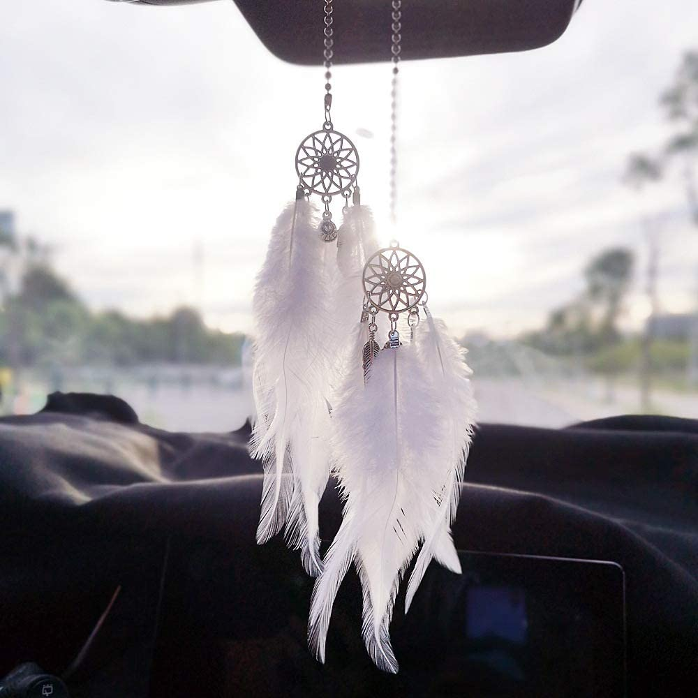 DreamCatcher Car Interior Mirror Hanging Pendant Home Decors Lucky Car Ornaments