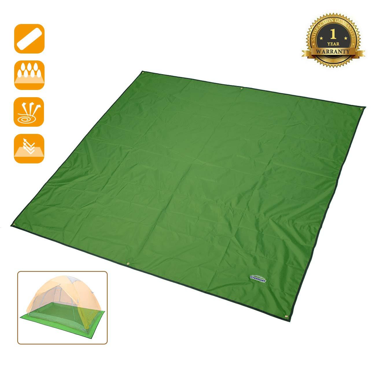 Overmont estera toldo alfombrilla manta impermeable plegable con bolsa para tienda de campa/ña camping picnic playa senderismo al aire libre azul//naranja//verde//verde oscuro