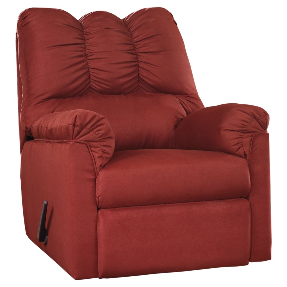 Ashley Furniture Signature Design - Darcy Contemporary Microfiber Rocker Recliner - Manual Reclining - Stone 7500025