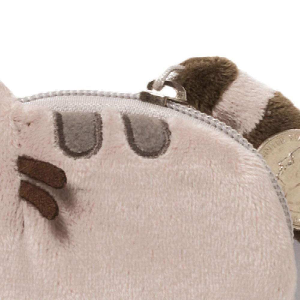 GUND Pusheen Cat Plush Stuffed Animal Coin Purse, Gray, 5