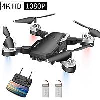Abblie Drone con Telecamera, Mini Drone con 1080P HD 40 Milioni di Pixel FPV WiFi, Headless Mode&Manutenzione dell'altitudine&Gesture Foto&3D Flip, per Bambini e Principianti Buon Regalo (2 batterie)