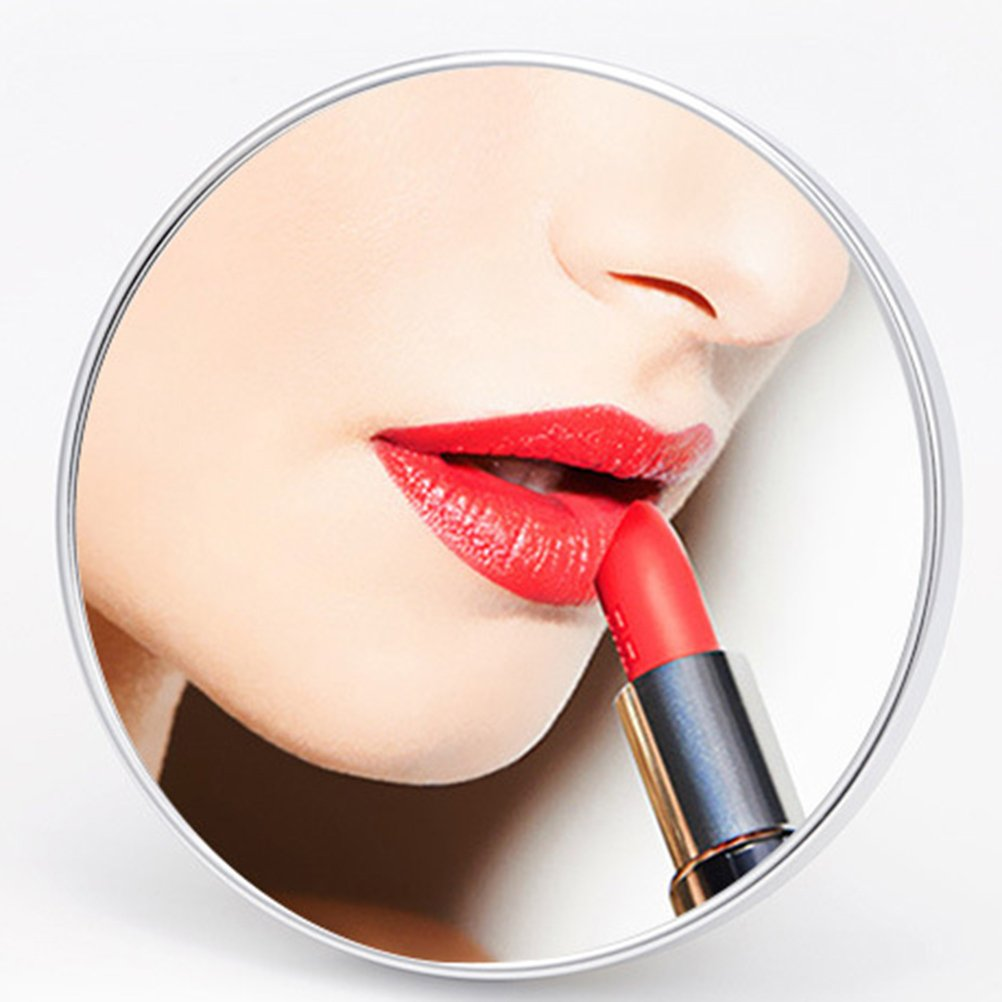 Frcolor 5X Magnifying Mirror, 5.9 Inch Round Vanity Cosmetic Mirror with 3 Suction Cups for Cosmetic Makeup