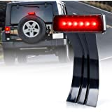 Xprite LED Third Brake Lights Tail Lights w/Smoke Lens High Mount Stop Lights for 2007-2018 Jeep Wrangler & Wrangler Unlimite