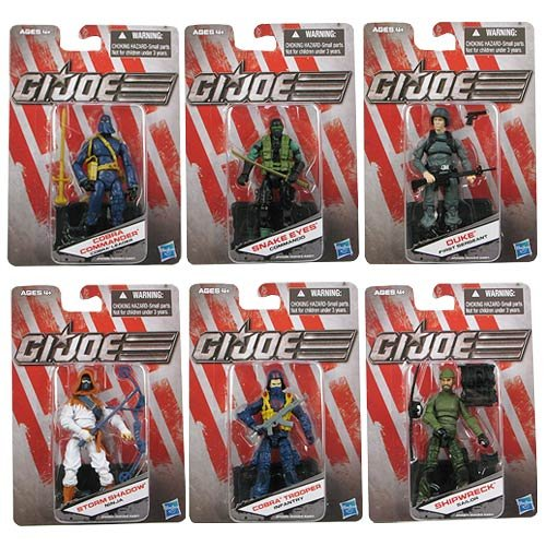 Set of 6 Wave 2 Variants, Snake Eyes, Ship Wreck, Duke, Storm Shadow, Cobra Commander & Cobra Trooper ()