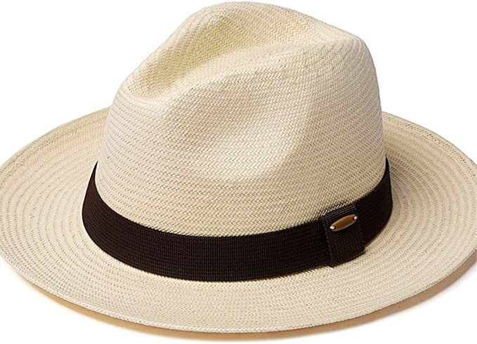 Sombrero De Paja De Verano Gorra para El Sol Hombres Fácil Tejido ...