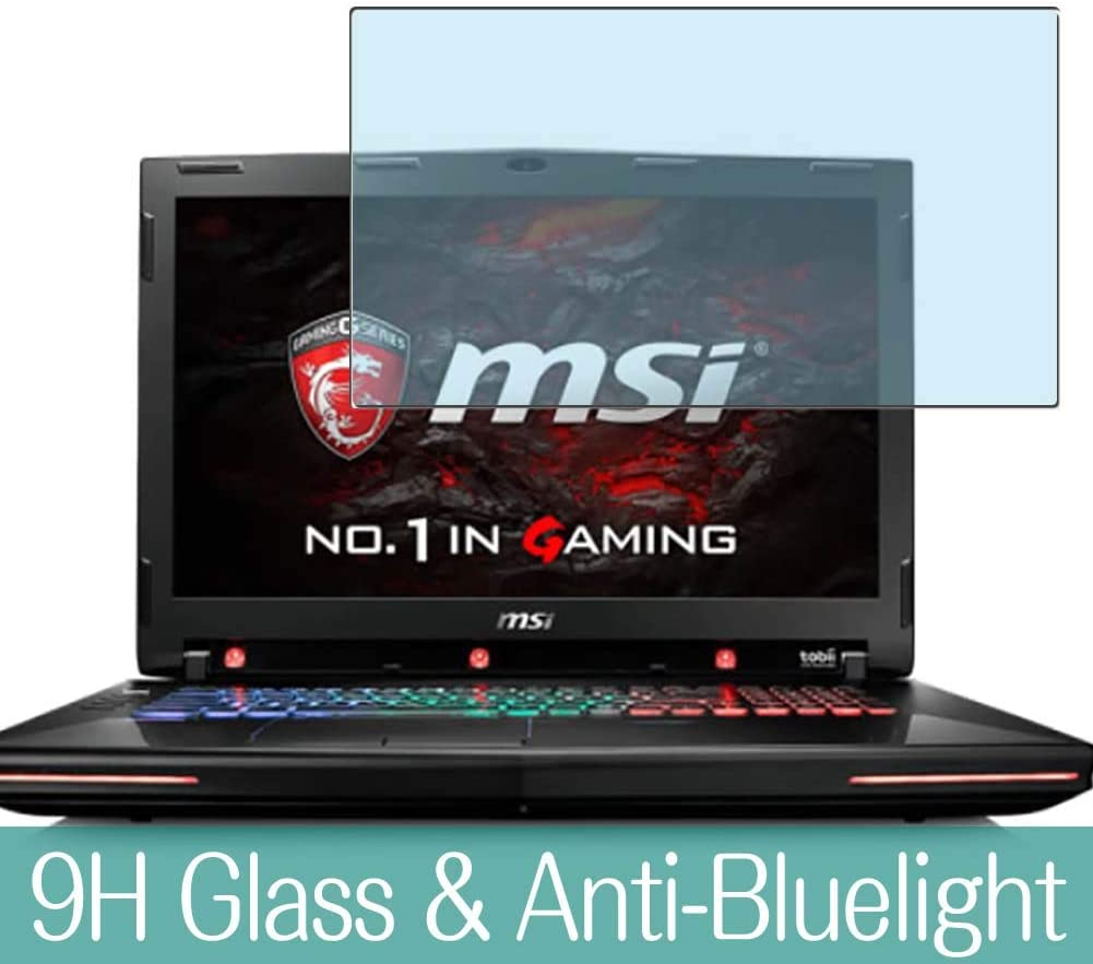 """Synvy Anti Blue Light Tempered Glass Screen Protector for MSI GT72VR 6RE Dominator PRO TOBII(018JP) 17.3"""" Visible Area 9H Protective Screen Film Protectors"""