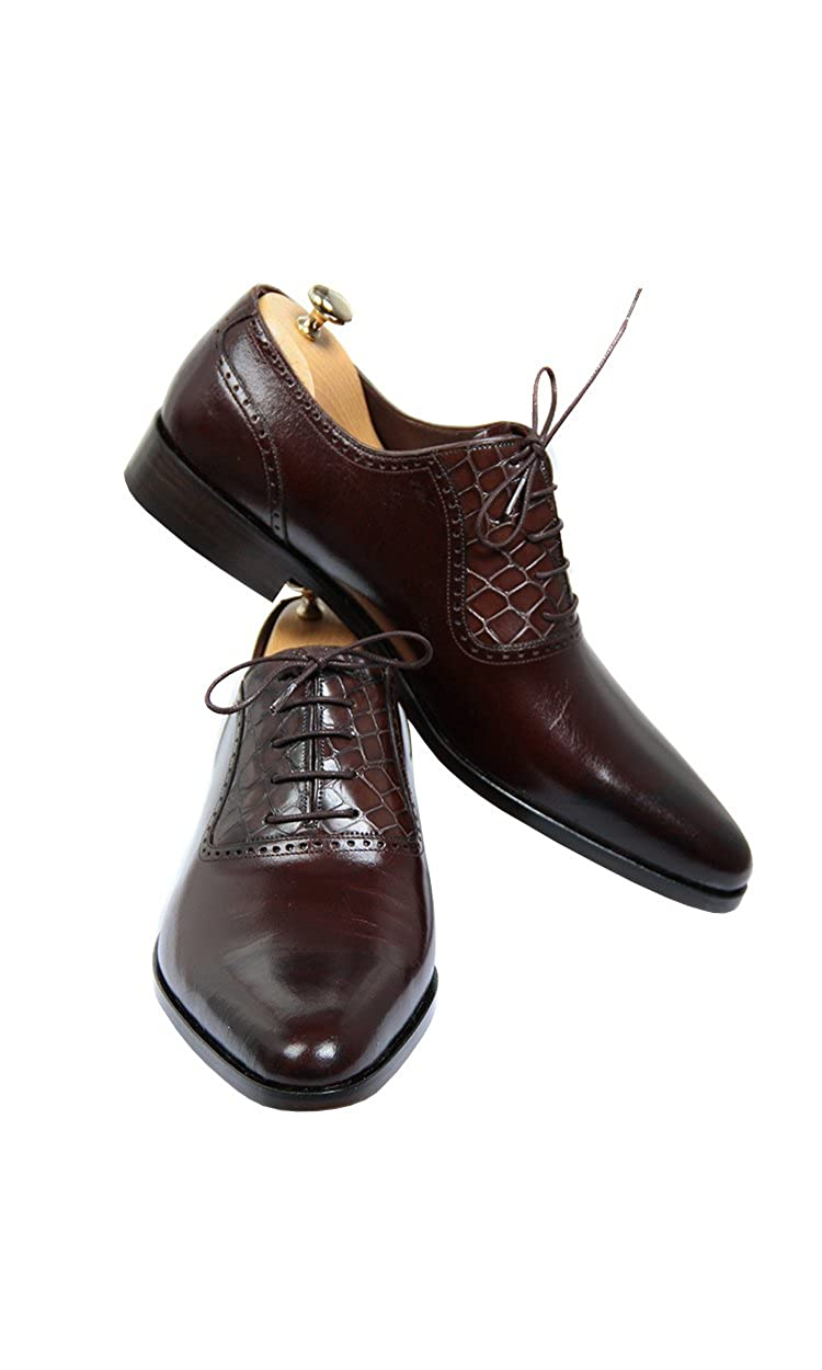 Handmade Dark Brown Men Shoes US 6.5 D(M) US Shoes B07CH31SDB 2b05ce