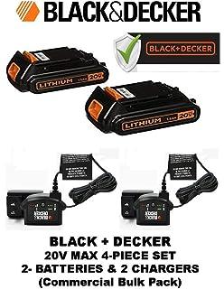 Amazon.com: Black & Decker 20 Volt Extended Run Tiempo ...