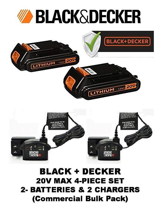 BLACK+DECKER LBXR20CK 20V Max Batería de iones de litio + ...