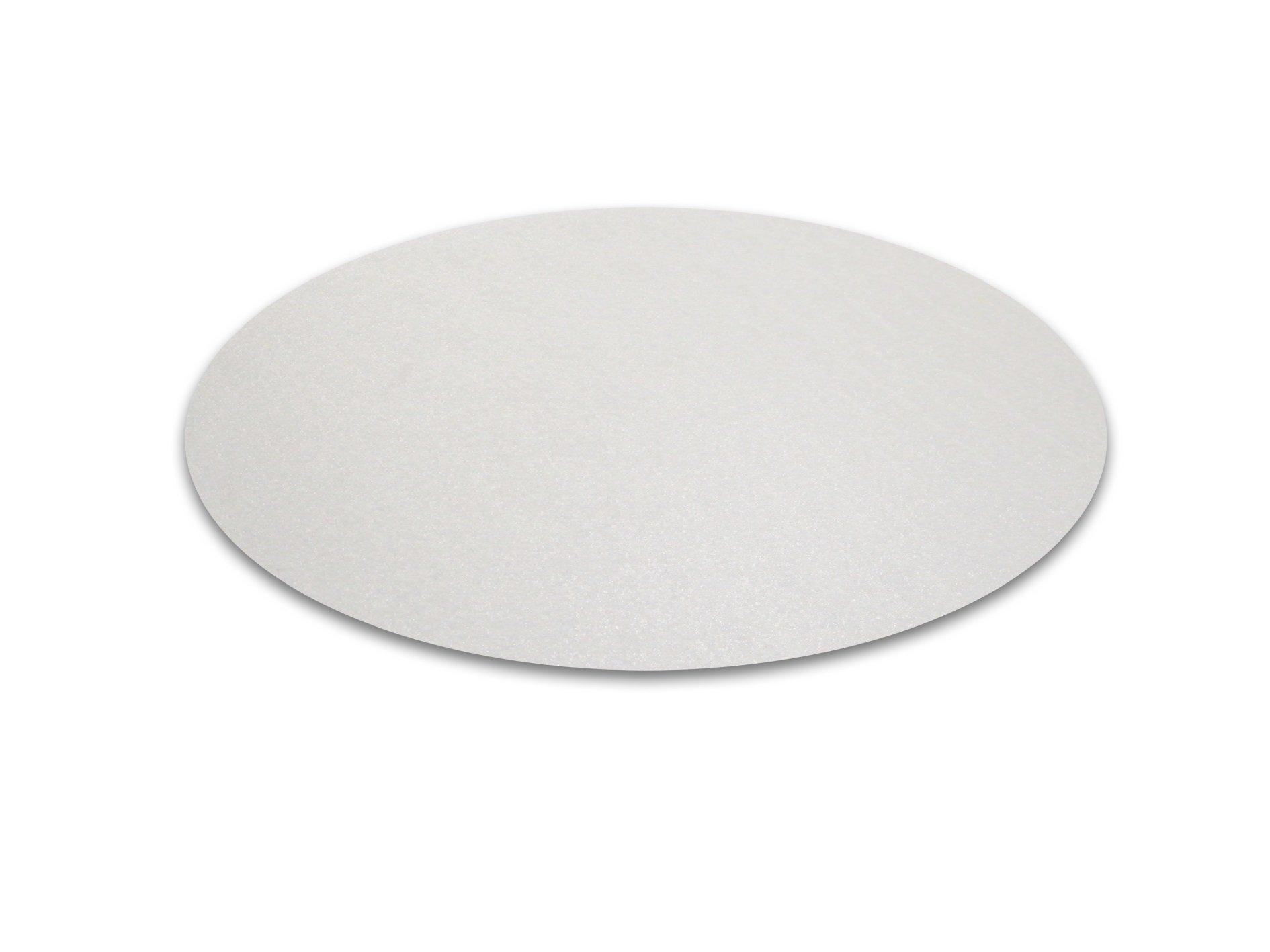 Cleartex Circular General Purpose Floor Mat, Polycarbonate, for Hard Floors, Round, 36'' Diameter (FC129020RR)