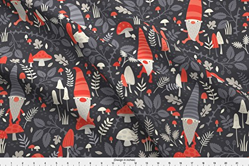 Petite Sateen - Spoonflower Gnomes Design Challenge Fabric Nordic Gnomes//By Petite Circus by Petite Circus Printed on Organic Cotton Sateen Ultra Fabric by the Yard