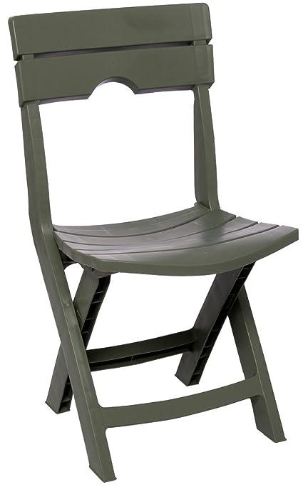 Adams Manufacturing 8575 01 3700 Quik Fold Chair, Sage