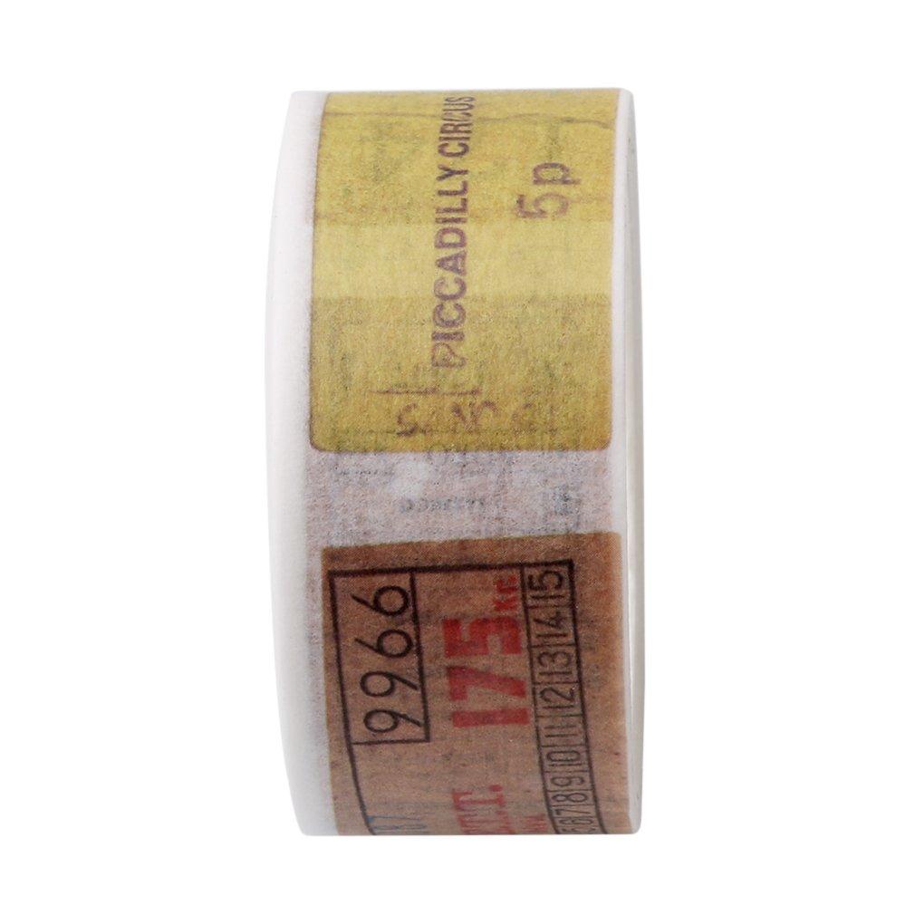 Rurah Fashion Vintage Washi Tape Decorative Paper Sticker Masking Tape DIY Adhesive Scrapbook,4#20mm£º