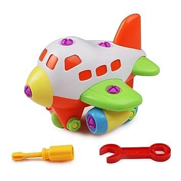 Amazon Com Take Apart Kids Airplane Diy Toy Assembling Construction