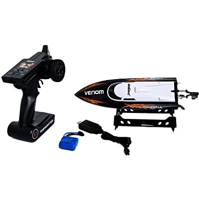 Udirc 2.4GHz High Speed Remote Control Electric Boat (Black): Toys & Games