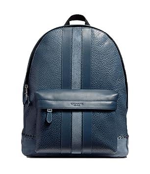 6fe28ebe9782 ... leather 489be af8ba; france coach charles backpack with baseball stitch  f11250 black antique nickel denim cabc0 b0f15