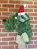 Schnauzer Dog Wreath Christmas Door Decor