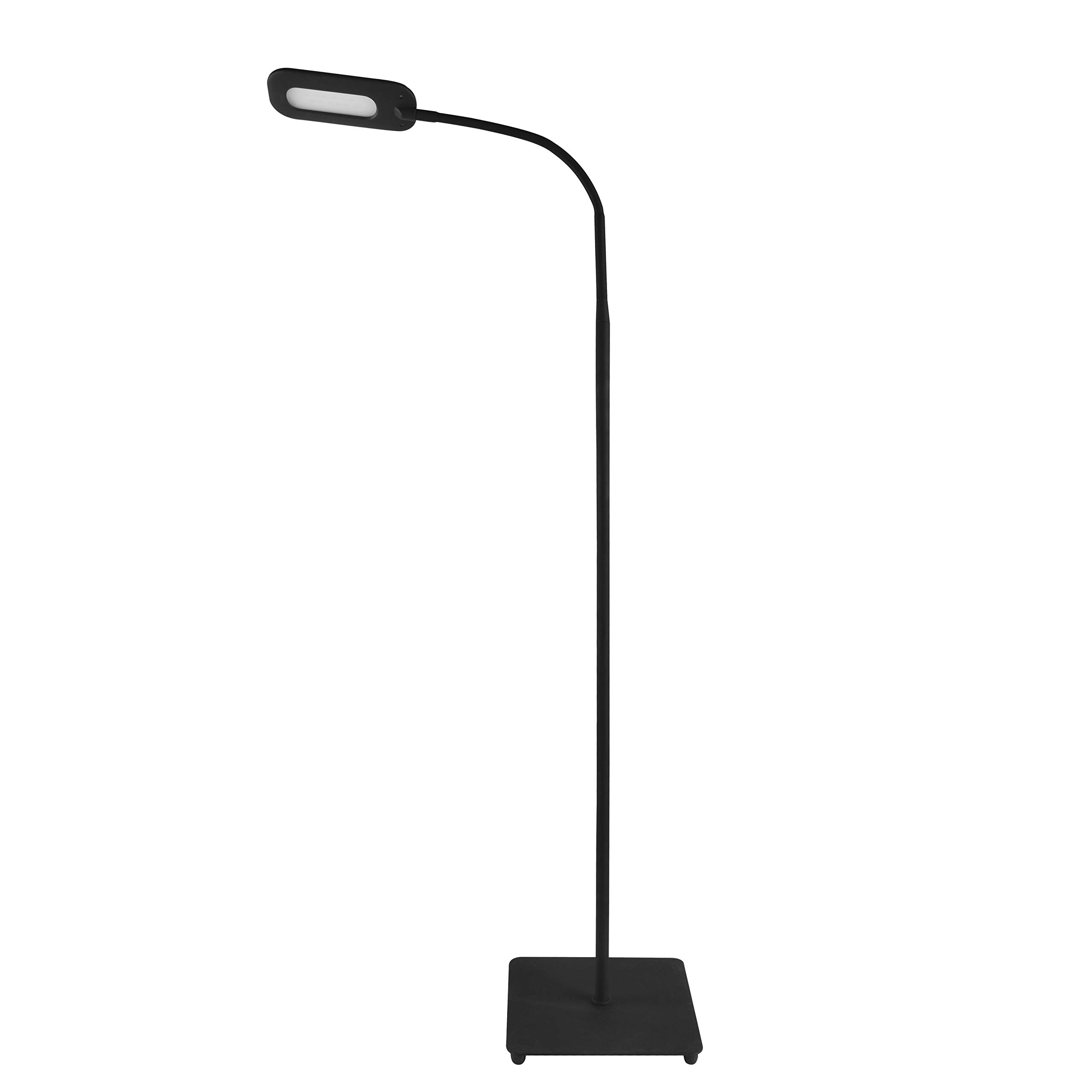 Trae KIYO LED Floor Lamp for Reading - Dimmable Adjustable Gooseneck Standing Lamp, Touch Control 3 Brightness Dimmer Levels, Memory Function Flexible Torchiere Floor Light for Living Room, Bedroom