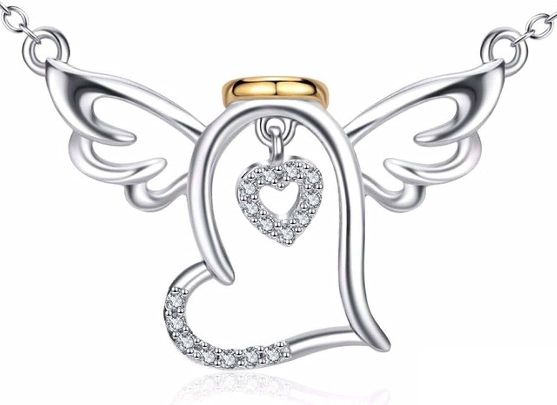 MMC Pearl Love Angel Silver Pendants Necklaces