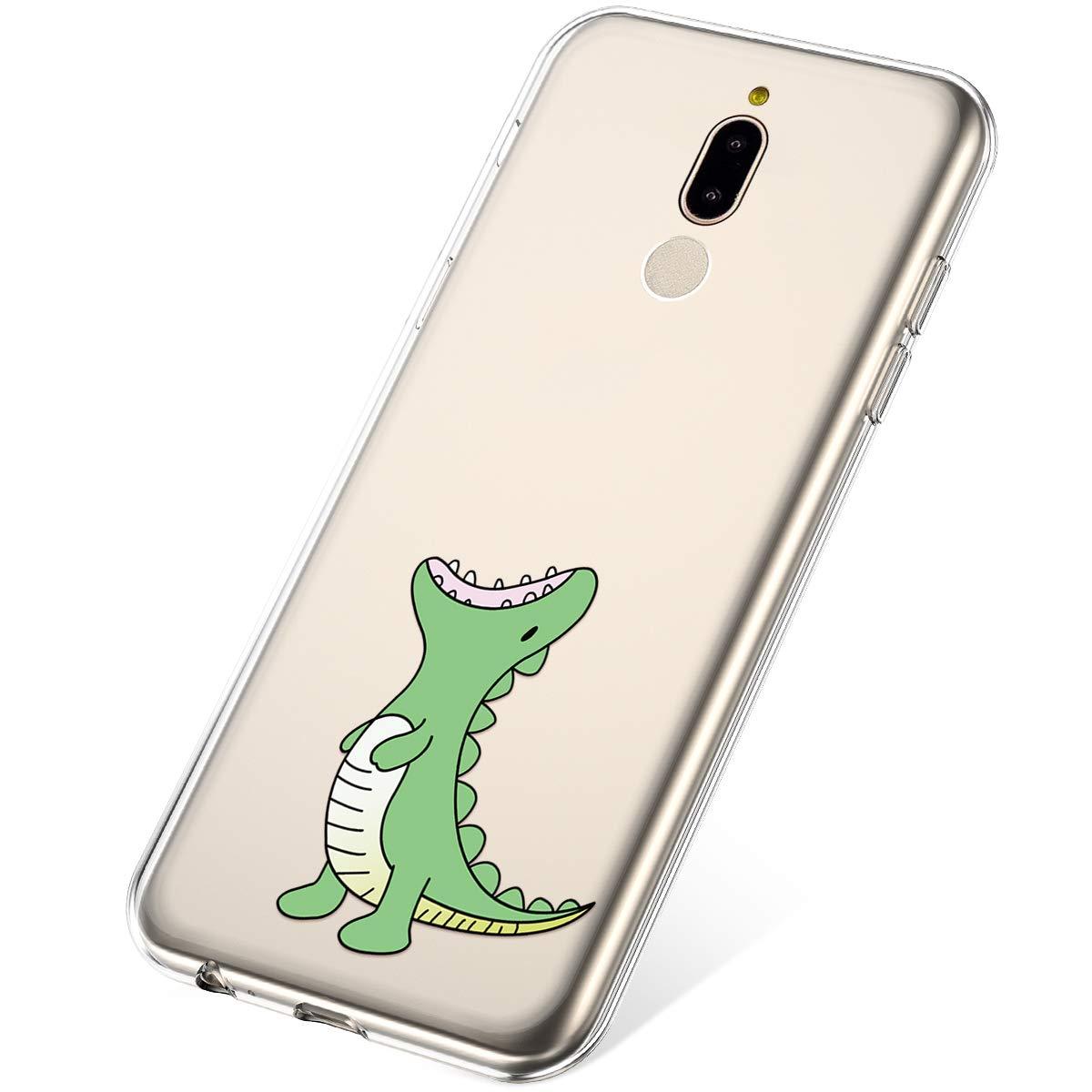 Felfy Compatible avec Huawei Mate 10 lite Coque Silicone Transparente Housse /Étui de Protection Motif Cr/éatif Ultra Fine Doux Souple TPU Silicone Case Cover Cristal Clair Bumper Shell,Dinosaure