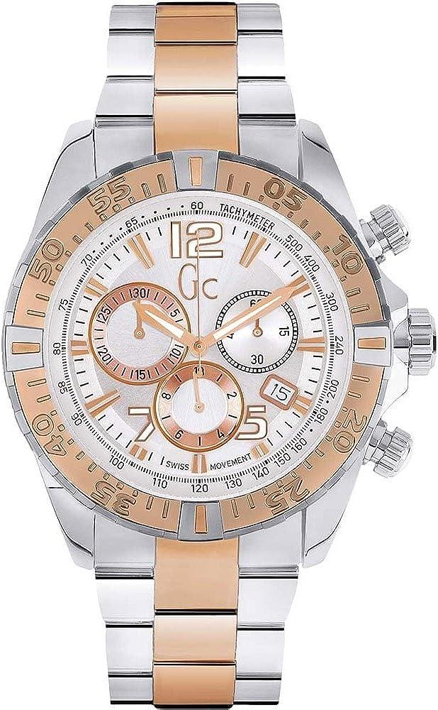 GUESS COLLECTION - Montre Homme Guess Collection GC Sport Racer Y02006G1 Bracelet Acier - Y02006G1