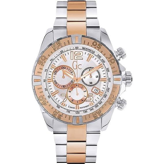 GUESS COLLECTION - Montre Homme Guess Collection GC Sport Racer Y02006G1 Bracelet Acier - Y02006G1: Amazon.es: Relojes