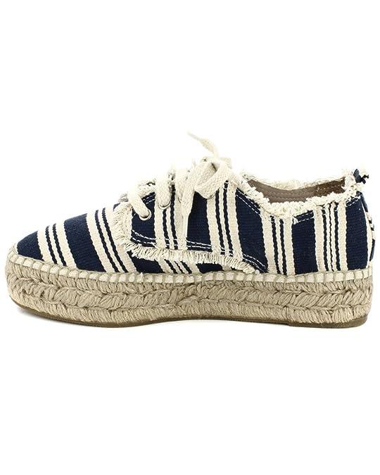 SONALI 10603 Mellow Navy White, Damen Espadrilles , mehrfarbig - marineblau/weiß - Größe: 43